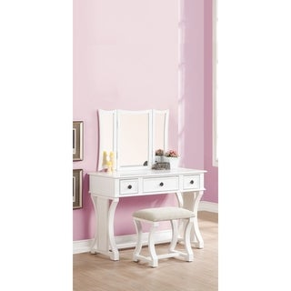 Adelynnline Vanity Set with Mirror, White