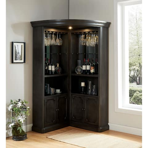 Stegman Transition Grey Curio Cabinet by FOA