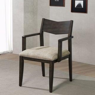 Carbon Loft Sandow Dark Walnut Armchairs (Set of 2)