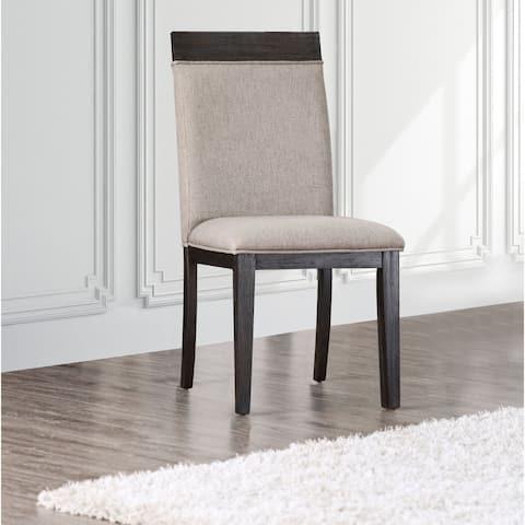Strick & Bolton Edmonia Espresso Side Chairs (Set of 2)