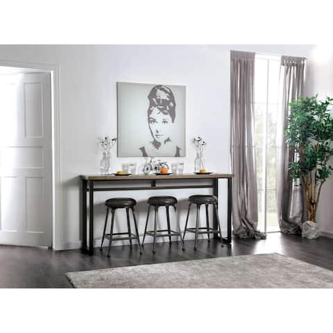 Furniture of America Quik Industrial Black 4-piece Counter Dining Set