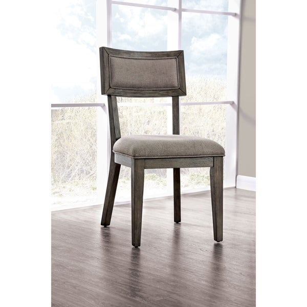 The Gray Barn Melody Fields Rustic Grey Side Chairs (Set of 2)