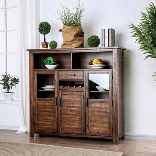 Link to Carbon Loft Laroche Rustic Walnut 59-inch Solid Wood Server Similar Items in Dining Room & Bar Furniture