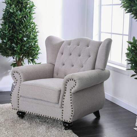 Furniture of America Ninotsminda Tufted Accent Chair