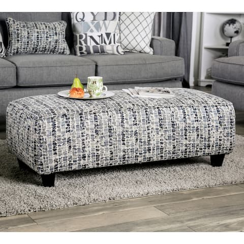 Goodwin Transitional Grey Ottoman by FOA