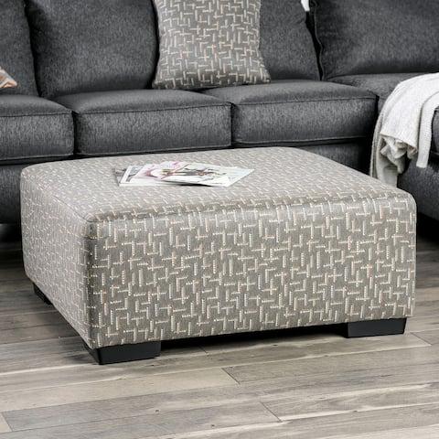 Furniture of America Marneuli Grey Ottoman