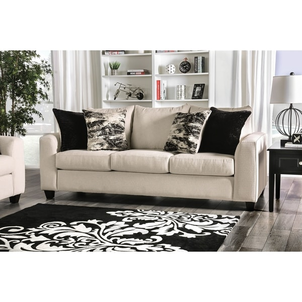 Shop Sutter Contemporary Ivory Sofa By FOA