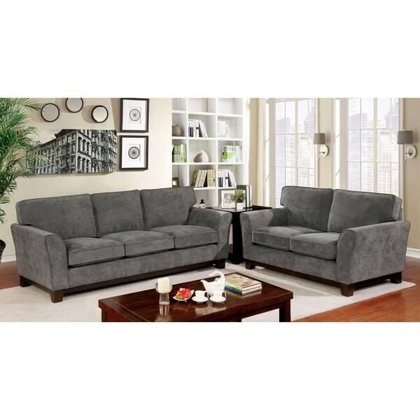 Shop Copper Grove Tsageri Contemporary Grey Sofa - On Sale ...