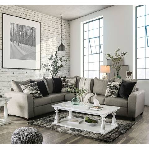 Strick & Bolton Hilma Contemporary L-shaped Sectional