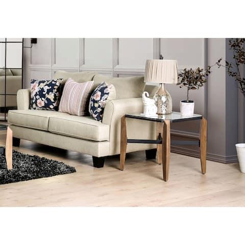 Furniture of America Corinthos Transitional T-Cushion Loveseat