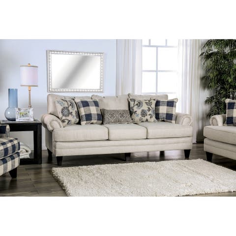 The Gray Barn Stormy Thistle Transitional Ivory Sofa
