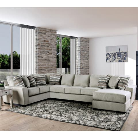 The Gray Barn Lily Down Contemporary Grey Sectional