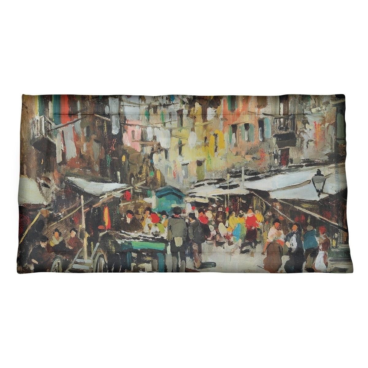 Felice Giordano Market In Naples Pillow Sham Microfiber Multi Overstock 27496325