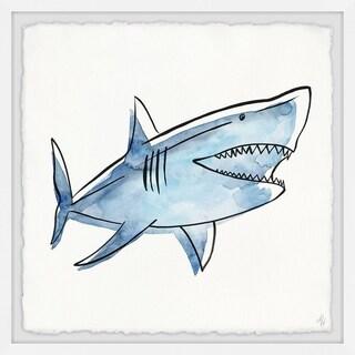 Marmont Hill - Handmade Big Blue Shark Framed Print