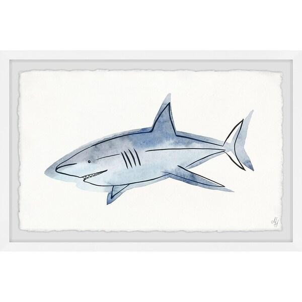 Marmont Hill - Handmade Roaming Shark Framed Print