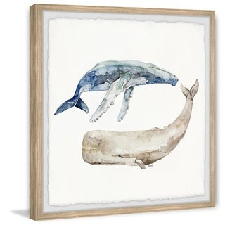 Marmont Hill - Handmade Whale Duo Framed Print