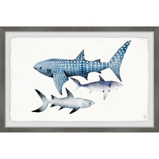 Marmont Hill - Handmade Dotted Shark Framed Print