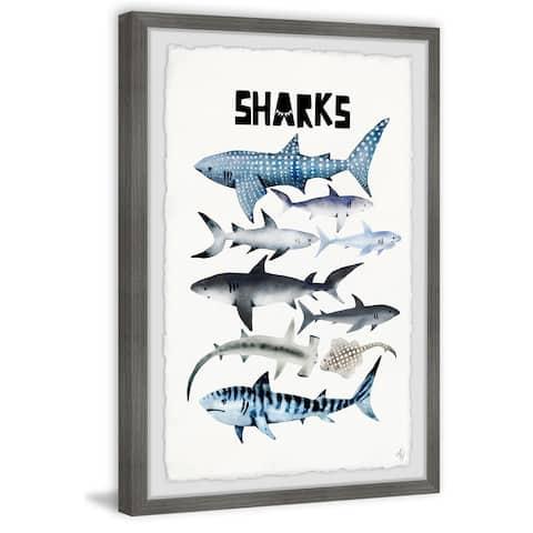 Marmont Hill - Handmade Sharks Framed Print