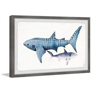 Marmont Hill - Handmade White Dotted Shark Framed Print
