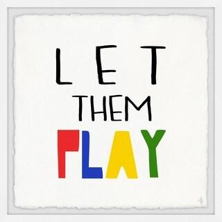 Marmont Hill - Handmade Let Them Play Framed Print