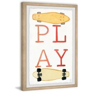 Marmont Hill - Handmade Skateboard Play Framed Print