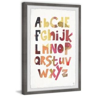 Marmont Hill - Handmade Alphabet Framed Print