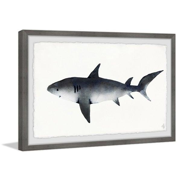 Marmont Hill - Handmade Big Gray Shark Framed Print