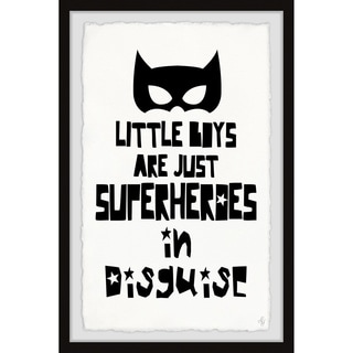 Marmont Hill - Handmade Little Boys Are Just Superheroes in Disguise Framed Print