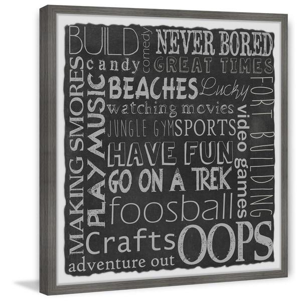 Marmont Hill - Handmade Camping Adventure Board Framed Print