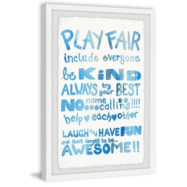 Marmont Hill - Handmade Play Fair Framed Print