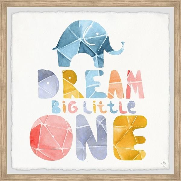 Marmont Hill - Handmade Paperfold Dream Big Little One Framed Print