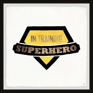 Marmont Hill - Handmade Superhero in Training Badge Framed Print