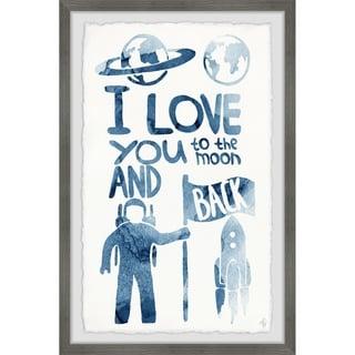 Marmont Hill - Handmade Astronauts Love Framed Print