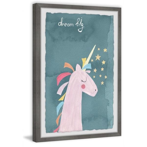 Marmont Hill - Handmade Dream Big Unicorn Framed Print