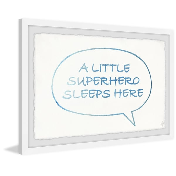 Marmont Hill - Handmade Superhero Sleeps Here Bubble Box Framed Print