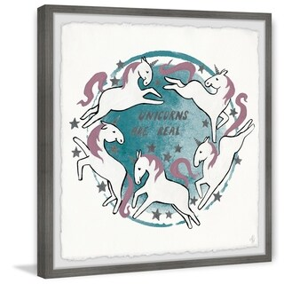 Marmont Hill - Handmade Dreaming Big Unicorn Framed Print