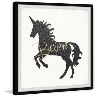 Marmont Hill - Handmade Unicorn Believer Framed Print