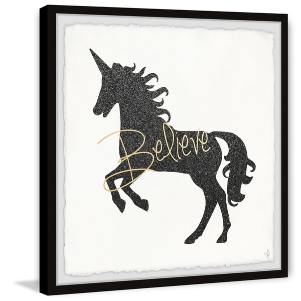 Marmont Hill - Handmade Unicorn Believer Framed Print
