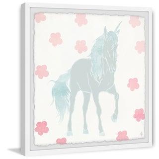 Marmont Hill - Handmade Floral Unicorn Framed Print