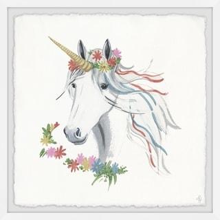 Marmont Hill - Handmade Rainbow Unicorn V Framed Print