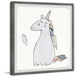 Marmont Hill - Handmade Unicorn Popsicle Framed Print