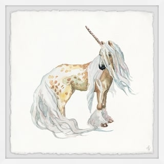 Marmont Hill - Handmade Golden Unicorn Framed Print