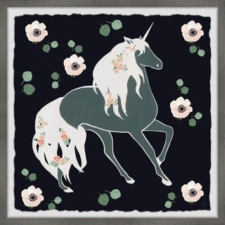 Marmont Hill - Handmade Blooming Unicorn Framed Print