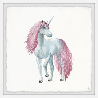Marmont Hill - Handmade Pink-haired Unicorn Framed Print