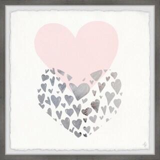 Marmont Hill - Handmade Heart to Heart Framed Print