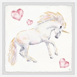 Marmont Hill - Handmade Dancing Unicorn Framed Print