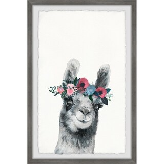 Marmont Hill - Handmade Floral Crowned Alpaca Framed Print