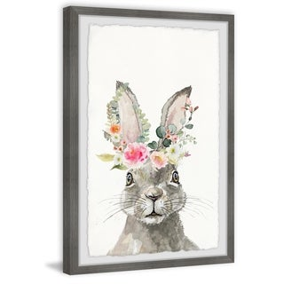Marmont Hill - Handmade Floral Crowned Hare Framed Print