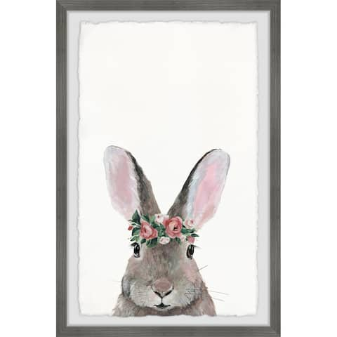 Marmont Hill - Handmade Flower Crowned Bunny Framed Print