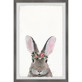 Link to Marmont Hill - Handmade Flower Crowned Bunny Framed Print Similar Items in Matching Sets